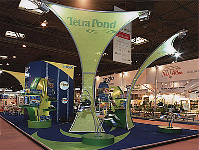 Tetra exhibition stand